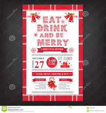 menu design for dinner party christmas restaurant and party menu invitation stock vector