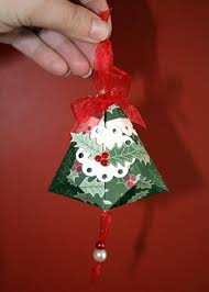 papercraft german bell ornaments