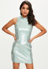 sequin dresses sparkly dresses online missguided