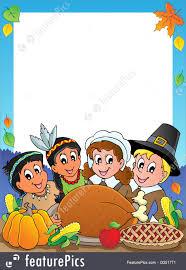 illustration of thanksgiving theme frame 2