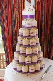 purple mini wedding cakes bitsy bride