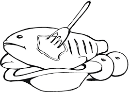 coloring breathtaking meat coloring pages fish1 meat