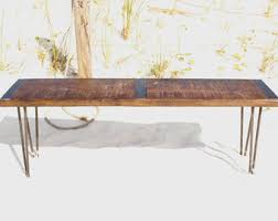 Wood And Metal Coffee Table Solid Furniture Handcrafted In The Usa By Reclaimedwoodusa On Etsy