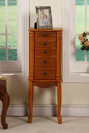 Jewelry Armoire Clearance Nathan Direct Bombay Jewelry Armoire J1001arm S Oak