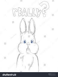 beautiful adorable bunny cute white rabbit stock vector 524268199