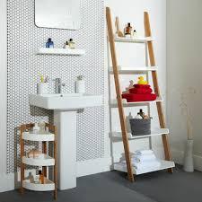 Wooden Ladder Bookcase by Bathroom Bathroom Ladder Shelf Wall Storage Shelves Target
