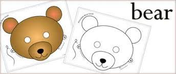 printable animal masks bear mask woo jr kids activities