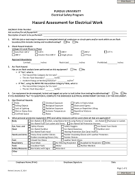 nfpa 70e arc flash table hazard assessment for electrical work energized electrical work