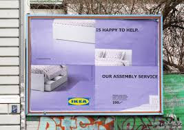 ikea outdoor advert by thjnk assembly fail bed ads of the world
