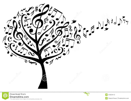 tree with notes vector stock vector image 53059410