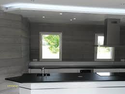 plafond suspendu cuisine maison en bois en utilisant eclairage led pour plafond suspendu