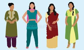 east clothing east indian women stock vector illustration of langa 32957479