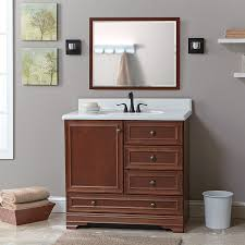 shop project source bark traditional bathroom vanity common 36