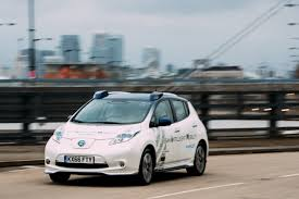 nissan leaf s g driverless cars take to the streets of london u2013 and no one notices