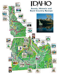Idaho Counties Map Easy To Read Reference Map Of Our State The Larger Cities Are