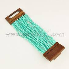 beading bracelet clasp images Wholesale seed beads bracelets with wood clasp multi strand JPG