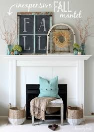 diy fall mantel decor ideas to inspire landeelu com inexpensive fall mantel it s 30 thursday house by hoff