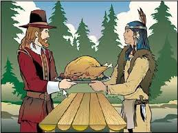 indians clipart thanksgiving dinner pencil and in color