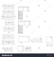 floor plan couch outline illustration couch plan stock vector 348943664 shutterstock