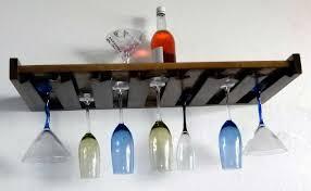 20 ways to wall mounted wine glass rack
