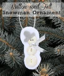 button and felt snowman ornament sweet pea