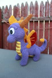 Spyro Dragon Halloween Costume Crochet Pattern Spyro Ember Inspired Dragon Amigurumi Pdf