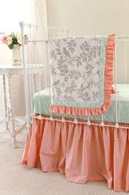 Pink And Gold Nursery Bedding Pink And Gold Tulle Crib Bedding Peach Pink Tulle Baby Bedding
