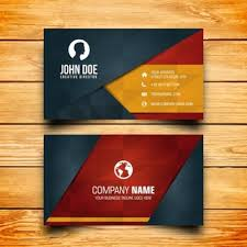 Free Graphics For Business Cards Business Card Design Vector Free Download