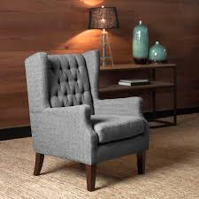 Pepper Chair Simpli Home Upholstered Grey Chair