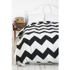zigzag duvet cover black white twin by urban outfitters
