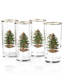 spode glassware set of 4 tree highball glasses