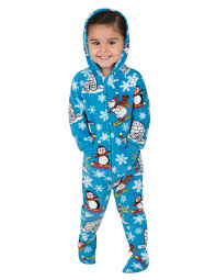 winter hoodie one infant hooded footed pajamas