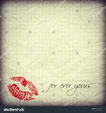 blank paper to write empty blank old paper with red lips to write a personal valentine save to a lightbox