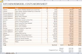 renovations budget template remodel worksheet expin franklinfire co