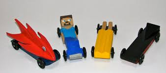 minecraft car pinewood derby time