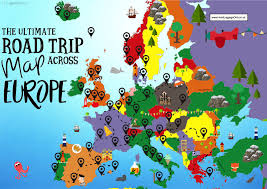 Travel Map Of Europe by The Complete Europe Road Trip Map 49 Places To Visit And Things