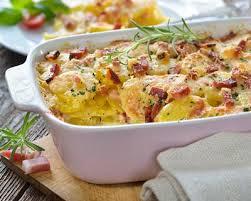 cuisiner du jambon blanc recette gratin dauphinois au jambon blanc et lardons fait maison