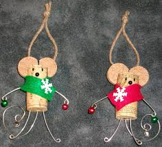 wine cork mice occasions and holidays ornamental