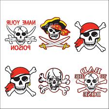2016 new skully tattoo sticker 5x5cm halloween wter tansfer tattoo