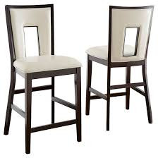 Silver Dining Chairs Broward Counter Height Dining Chairs Wood White Brown Set Of 2