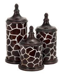 uma giraffe print canister set zulily