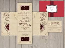 harry potter wedding invitations wedding invitation set harry potter marauder s map invitation
