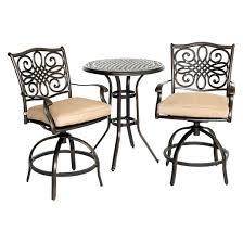 High Bistro Table Set Outdoor Hanover Traditions 3 Piece High Dining Bistro Set Target