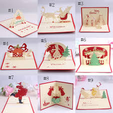 handmade kirigami origami 3d pop up card creative merry