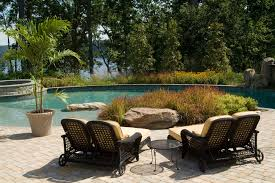 Chaise Lounge Patio Furniture Double Chaise Lounge Outdoor In Patio Traditional With Raised Tub