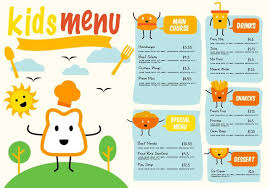 kids menu template free template kids menu vector download free