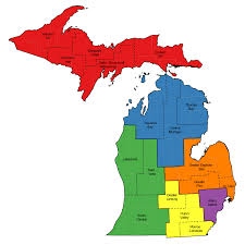 Lansing Michigan Map by Central Labor Councils Michigan Afl Cio