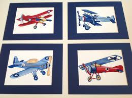Vintage Airplane Nursery Decor Airplane Nursery Art Vintage Airplane Art Print Children