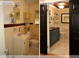 Painting A Bathroom Vanity Before And After by Hallway Bathroom Remodel Before U0026 After Diy Countertops