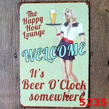 vintage metal painting tin poster logo plague sign board bar home